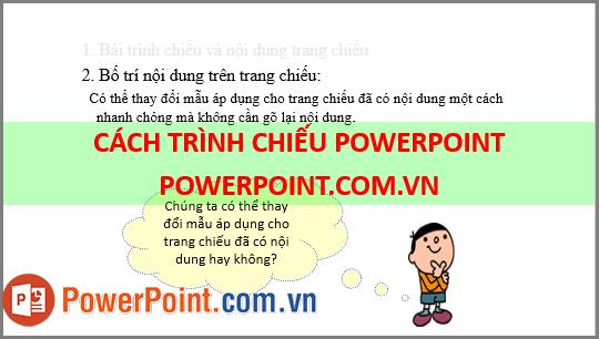 Cách trình chiếu Powerpoint