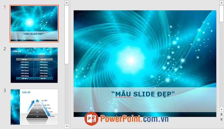 Mẫu Slide PowerPoint đẹp 1