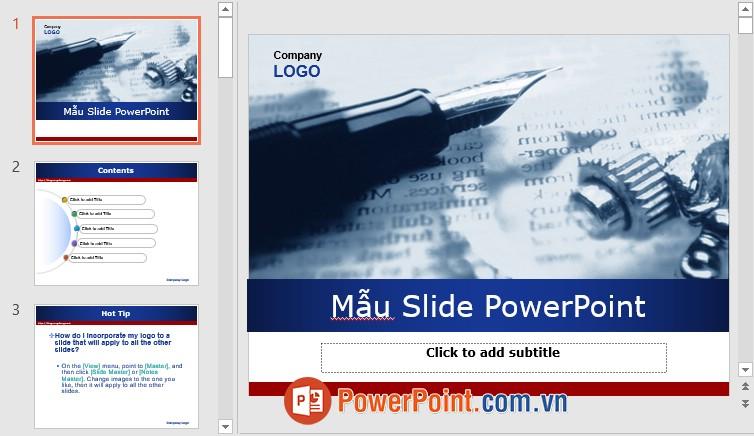 Mẫu Slide PowerPoint đẹp 9