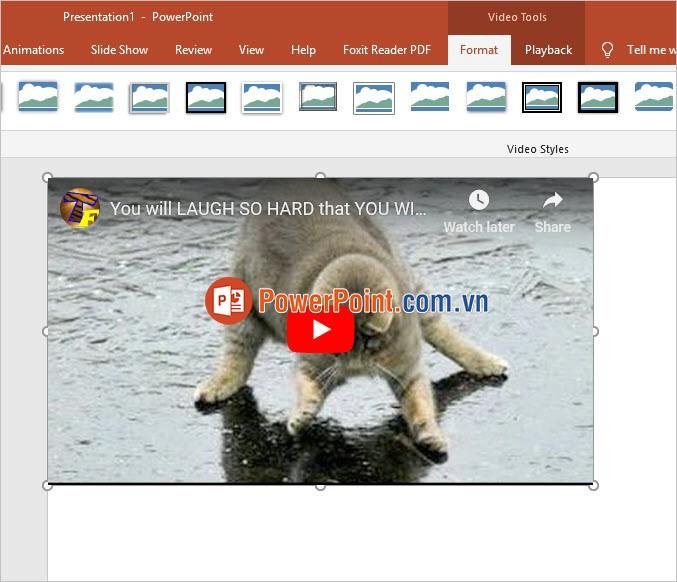 Giao diện Video như Youtube