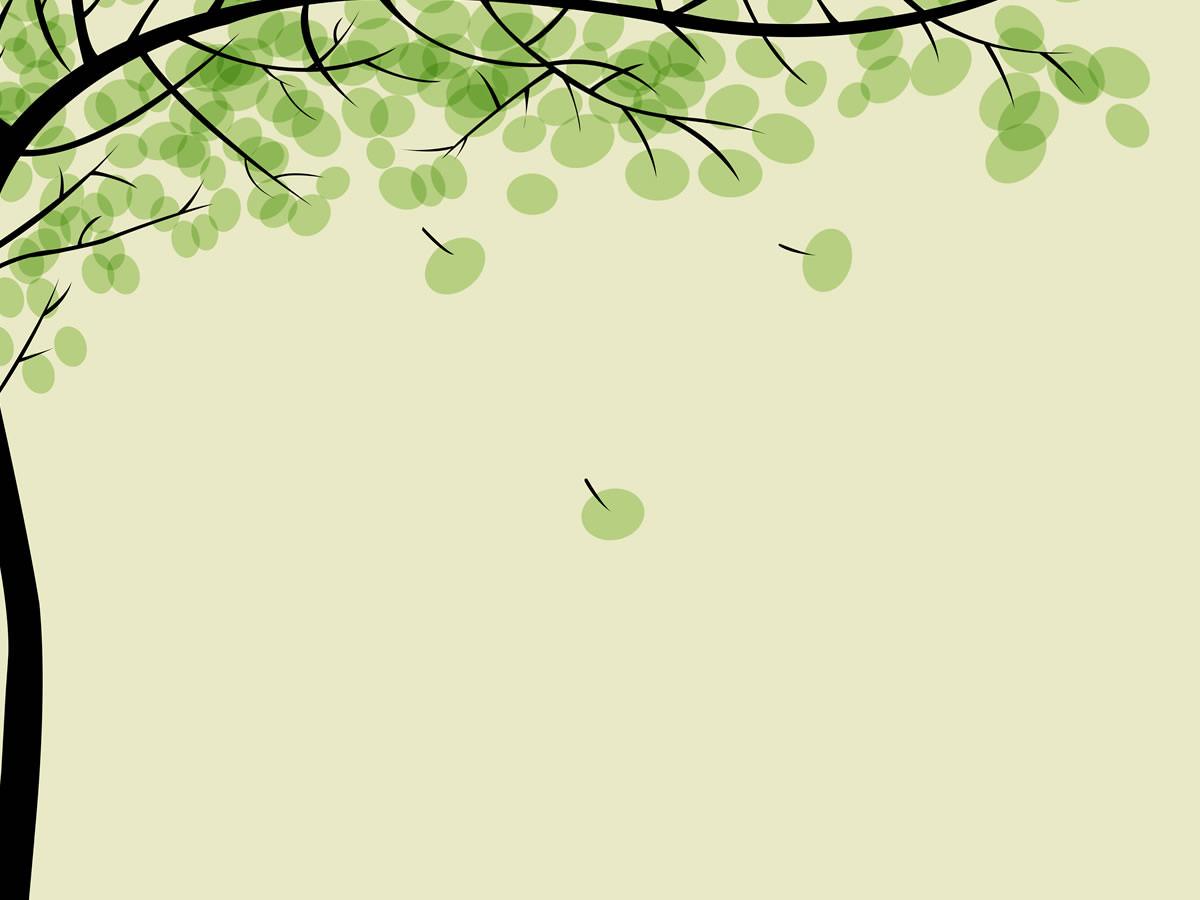 Hình nền cho PowerPoint cây và lá