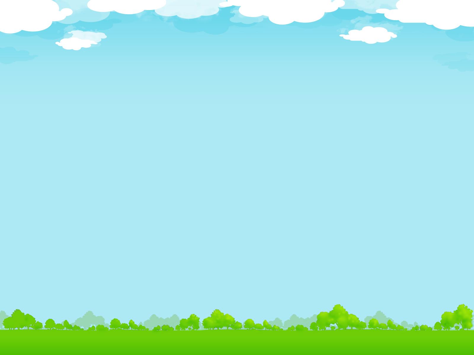 Hình nền cho PowerPoint rừng cây và bầu trời