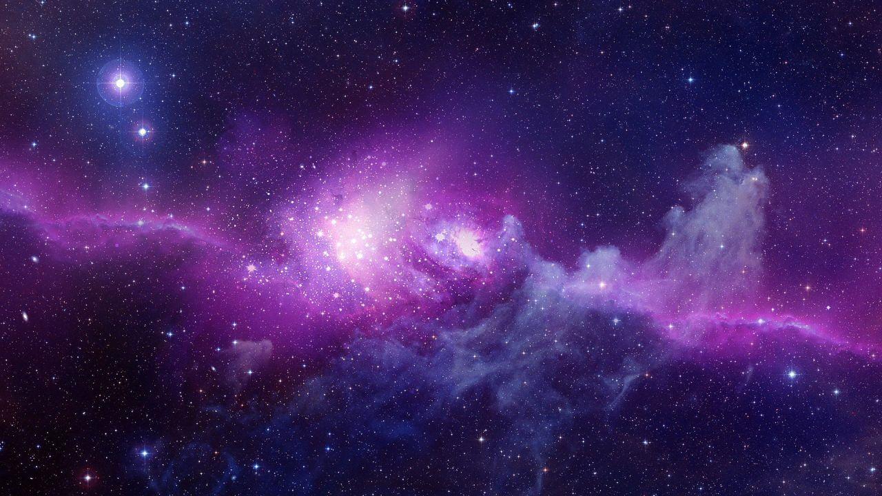 Hình nền galaxy cho PowerPoint