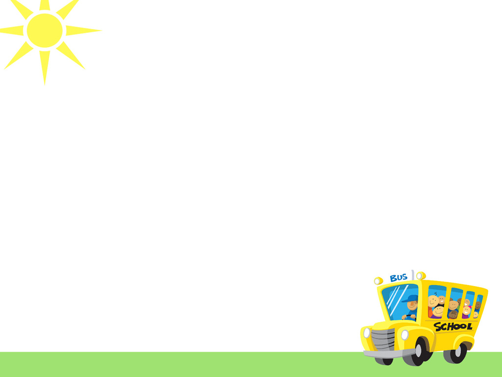 Hình nền PowerPoint bus shool xe buýt trường học