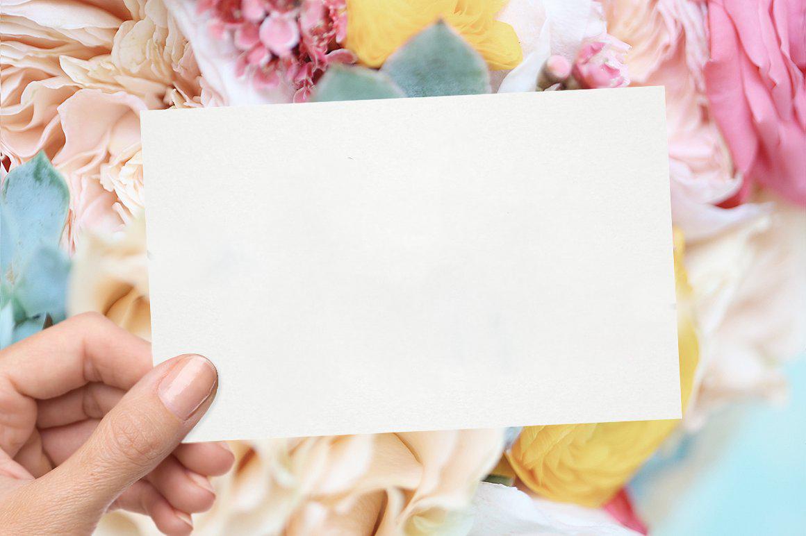 Hình nền PowerPoint bưu thiếp và hoa