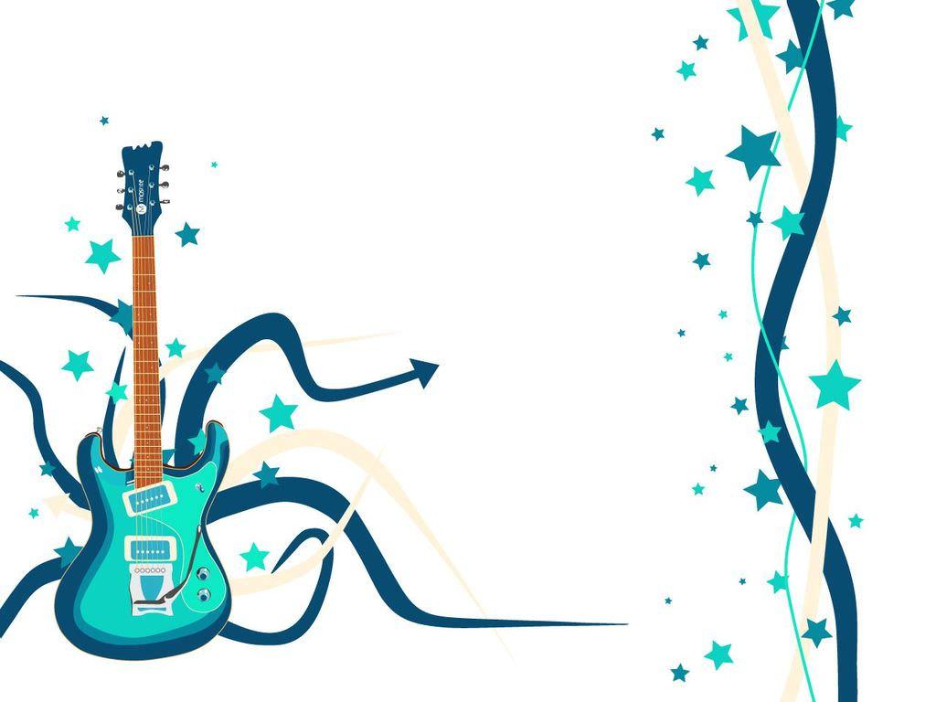 Hình nền PowerPoint cây đàn ghita