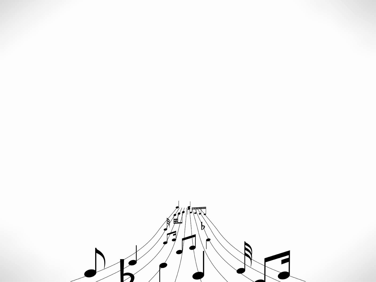 Hình nền PowerPoint đơn giản cùng những nốt nhạc