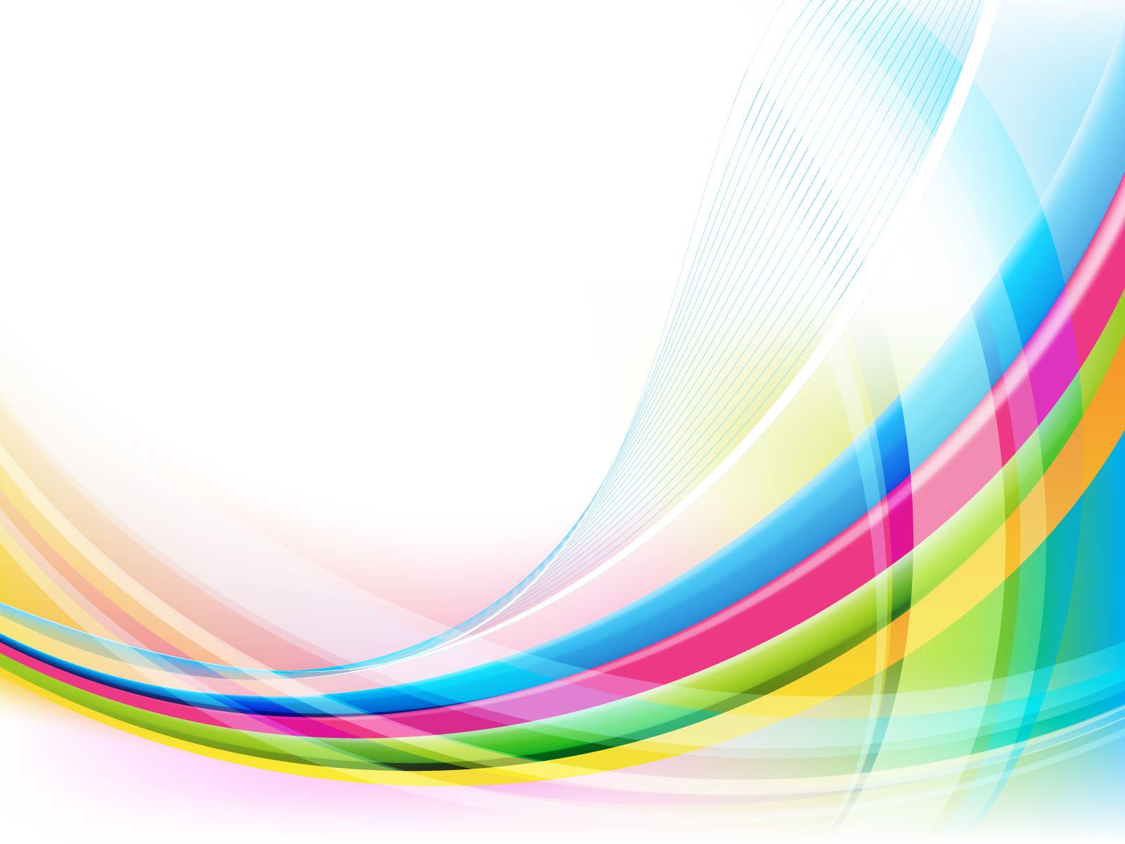 Hình nền PowerPoint đơn giản với những dải màu sặc sỡ