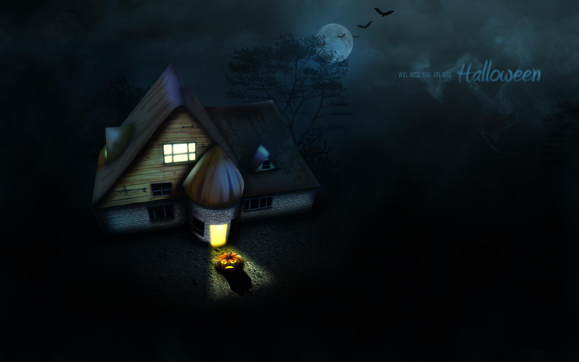 Hình nền Powerpoint Halloween đơn giản