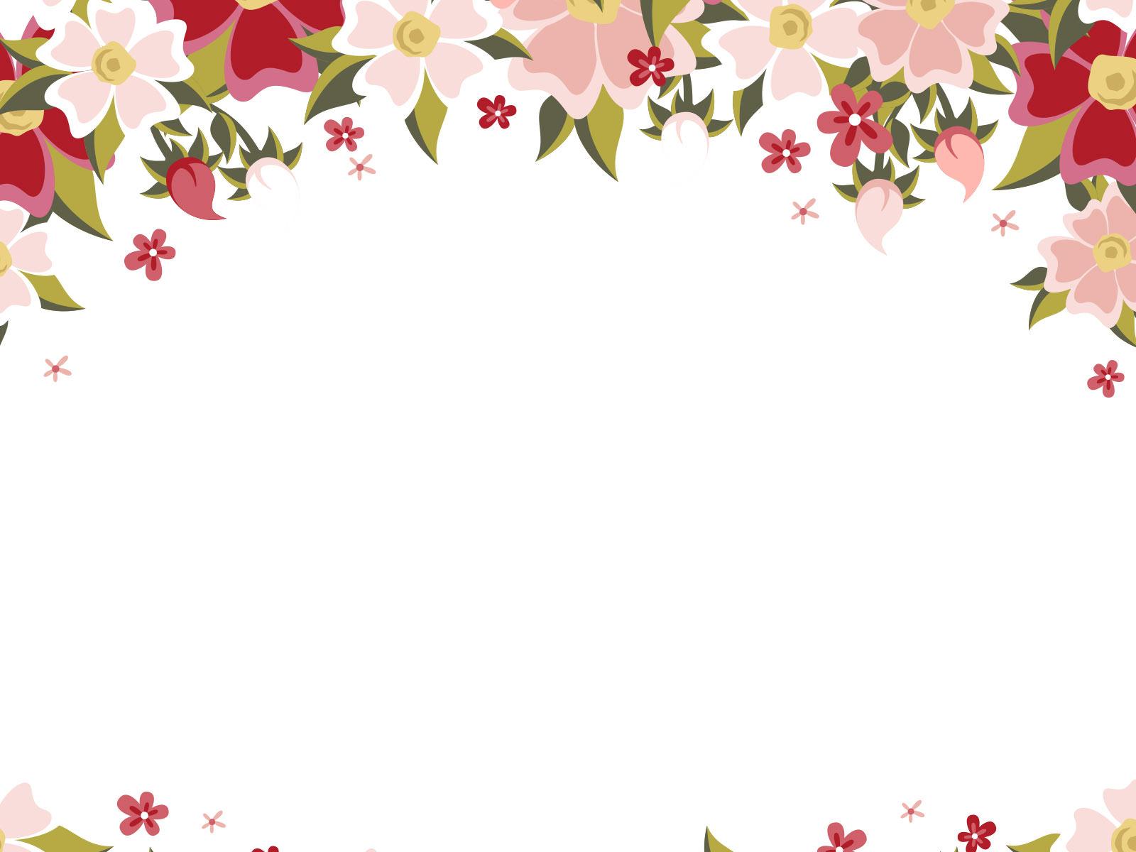 Hình nền PowerPoint hoa lá cành