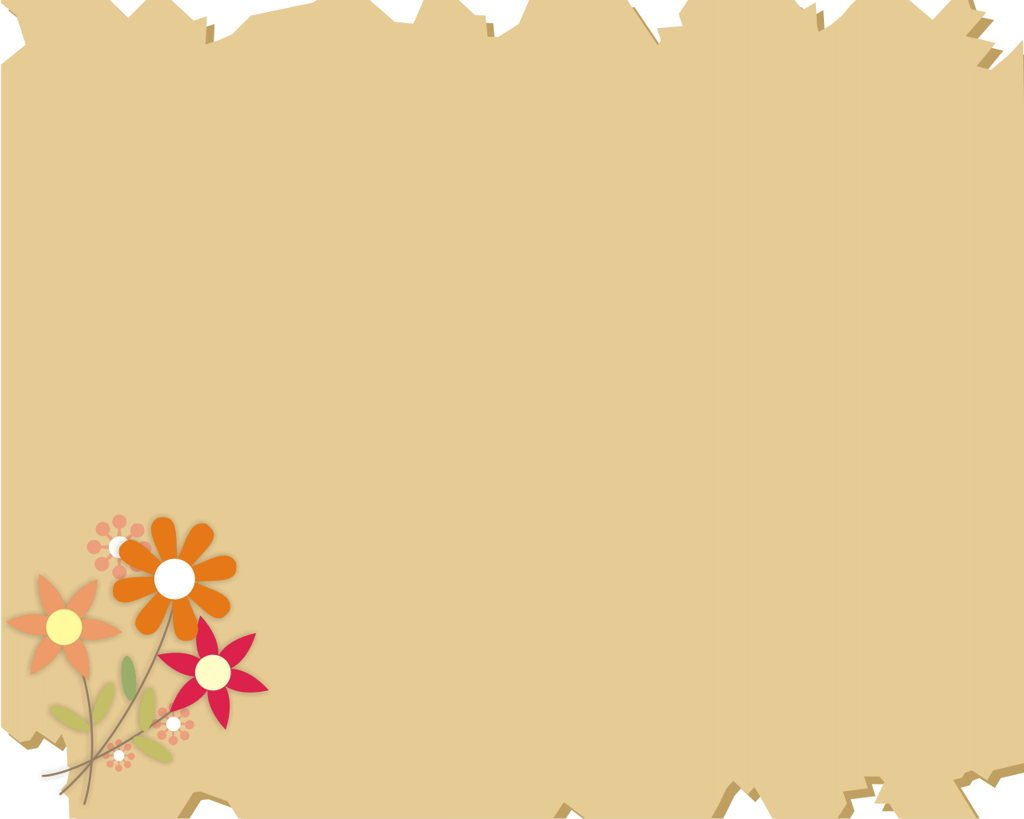 Hình nền PowerPoint những bông hoa cách điệu