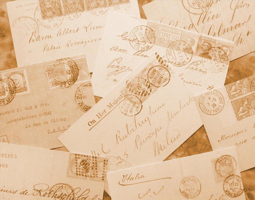 Hình nền PowerPoint những bức thư cổ