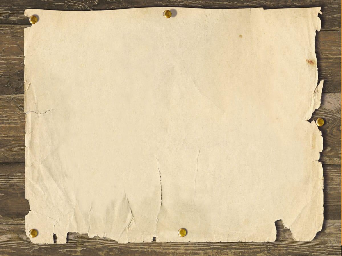 Hình nền PowerPoint tờ giấy được đóng đinh trên tường