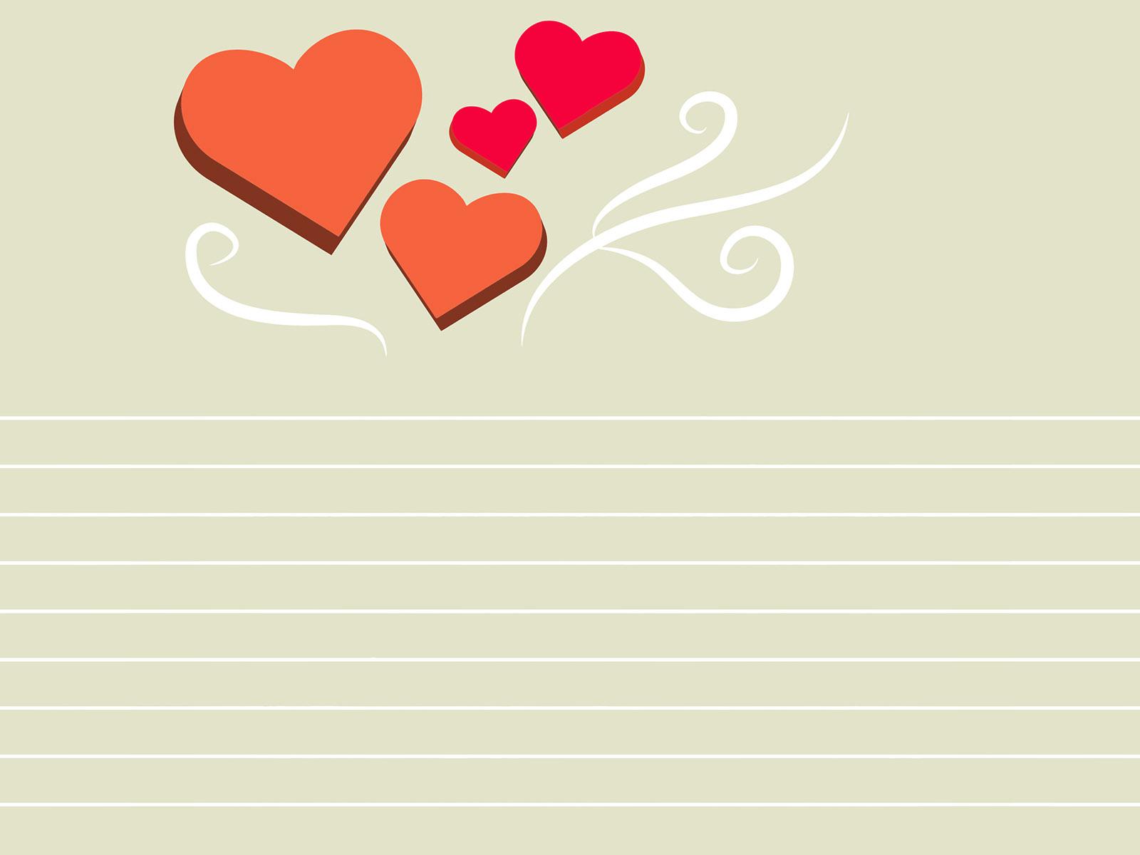 Hình nền PowerPoint trái tim đỏ với chủ đề tình yêu