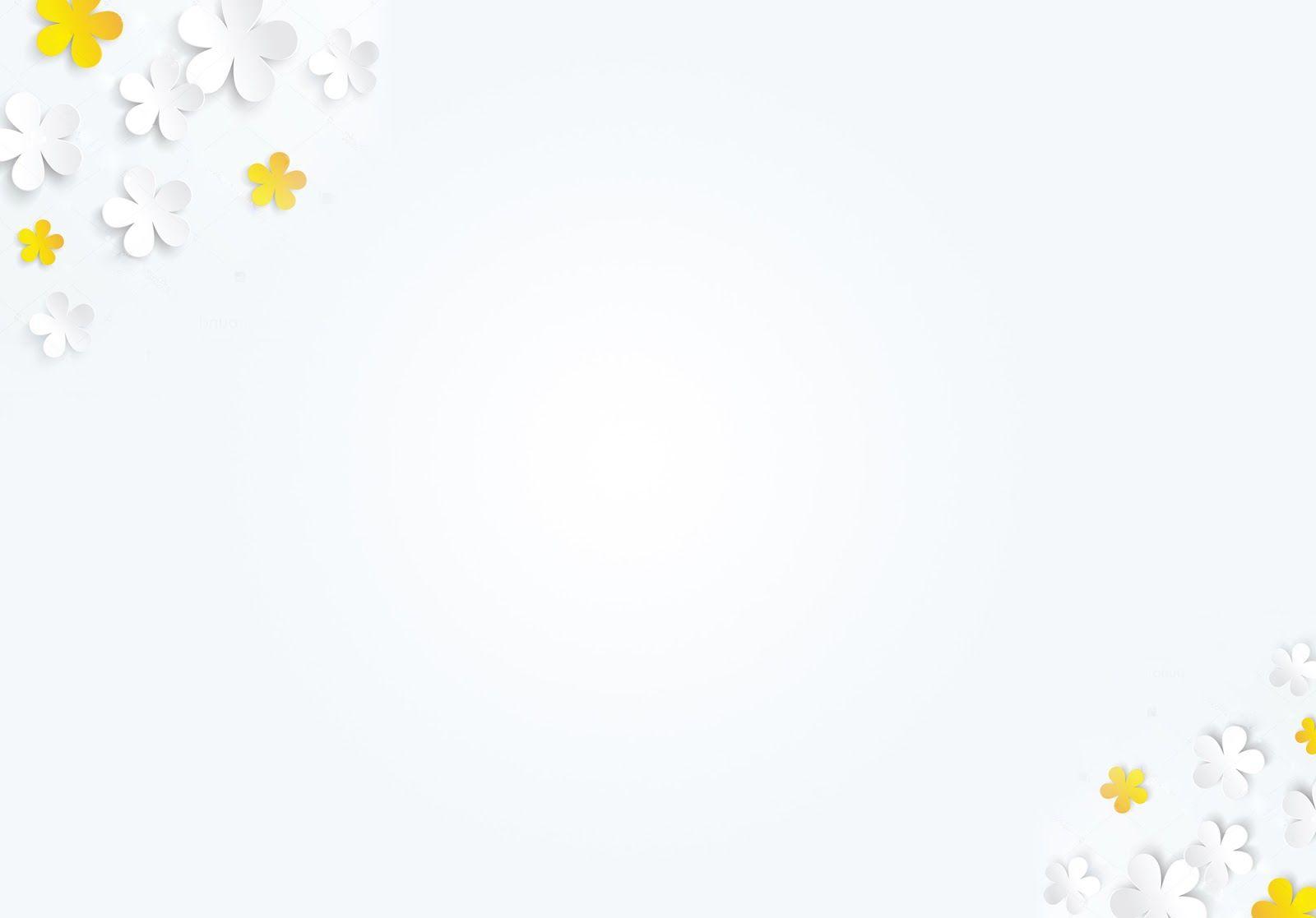 Hình nền PowerPoint với hình bông hoa đơn giản mà đẹp