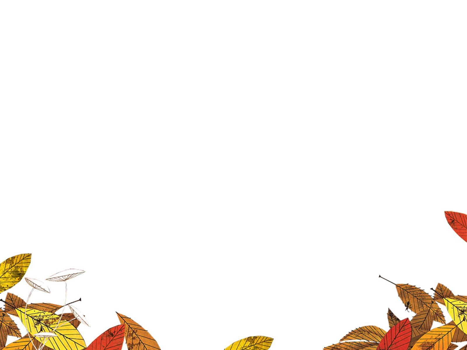 Hình nền PowerPoint với những chiếc lá mùa thu