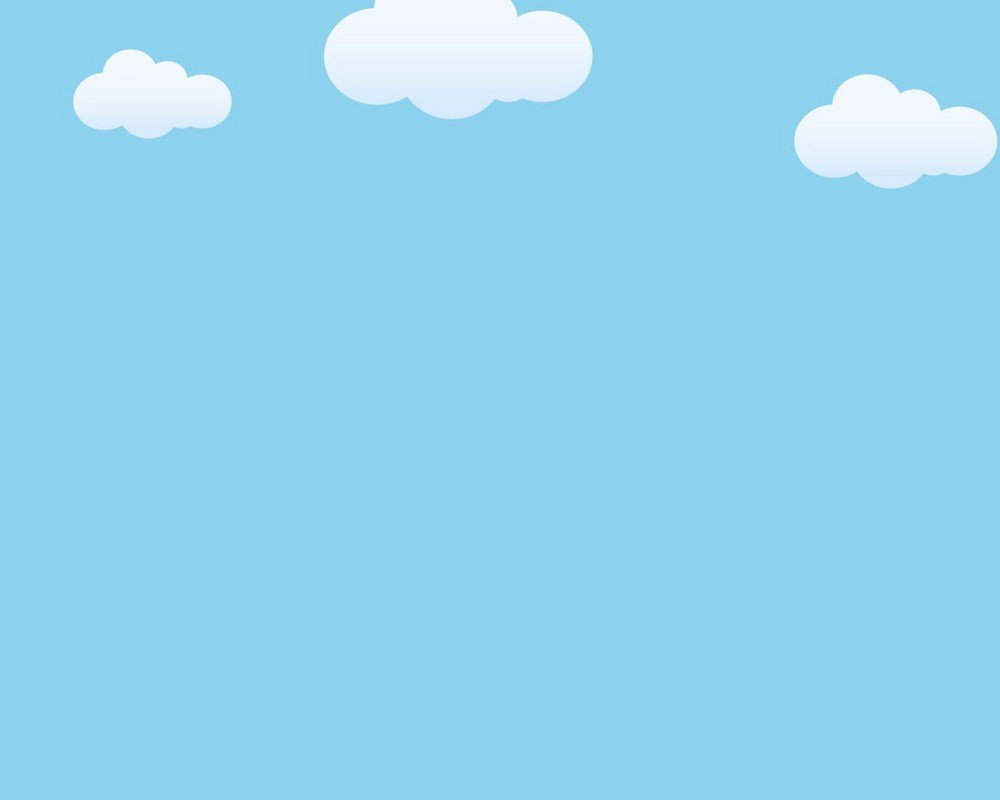 Hình nền PowerPoint với những đám mây trắng